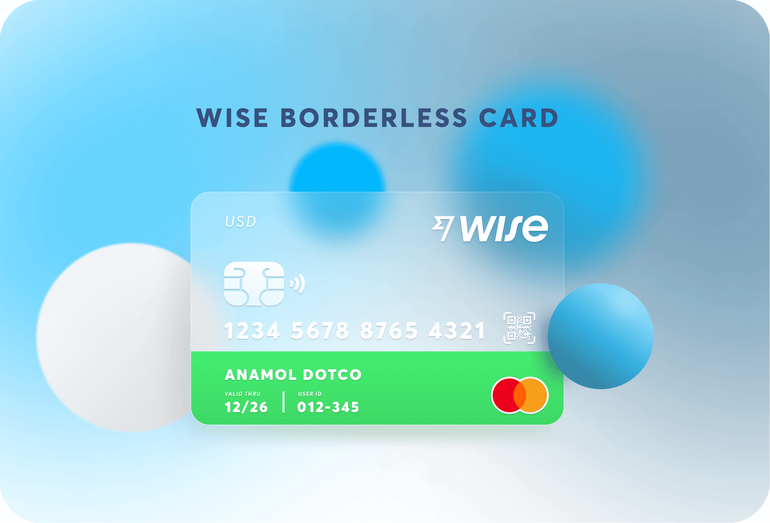 wise borderless card concept